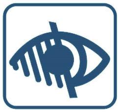 logo accessibilité défficient visuel